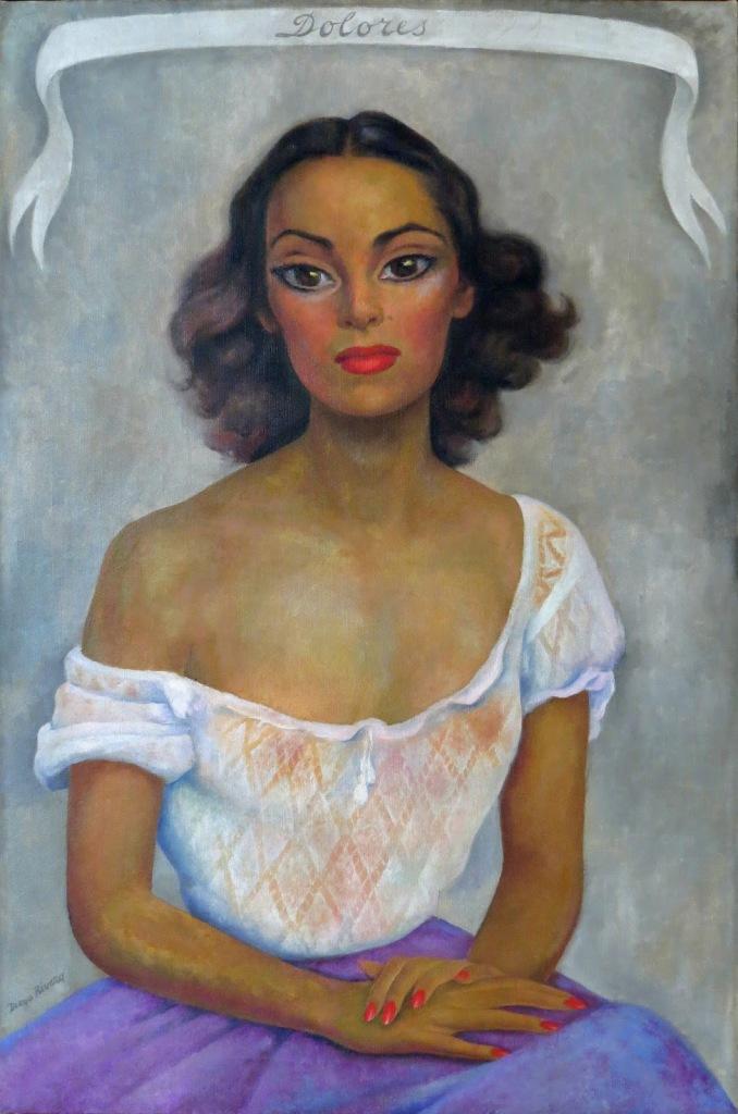 Diego Rivera. Retrato de Dolores del Río. 1938. Óleo sobre tela 1